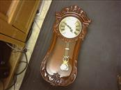 D&A Wall Clock WESTMINSTER CHIME, Cherry Case, Quartz